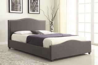 KRISPIN čalúnená manželská posteľ 180, šedá