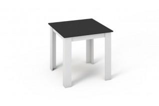 KONGI jedálenský stôl 80x80 čierna a biela