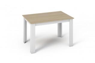 KONGI jedálenský stôl 120, dub sonoma/biela