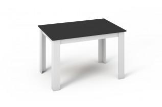 KONGI jedálenský stôl čierna a biela