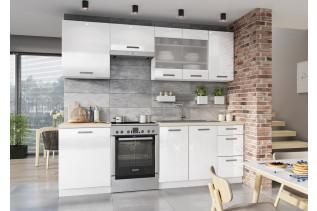 VISTA kuchyňa 240, biely akryl