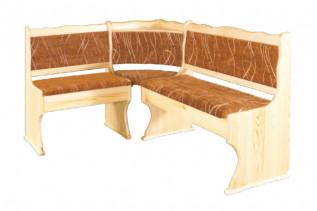 NR111 Čalúnená rohová lavica