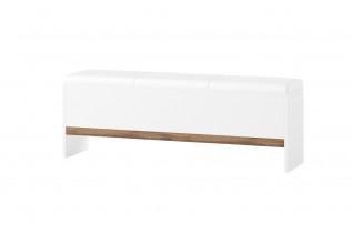 LIVIGNO lavica k posteli so sedákom 65, dub wotan/biela