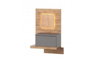 LIVIGNO moderný nočný stolík s LED svetlami 68, ľavý
