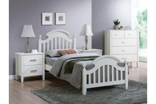 Drevená posteľ LIBONA 90, biela