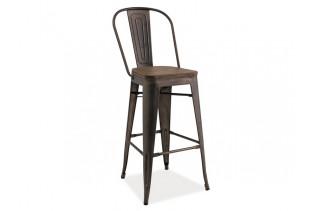 LIFT barová stolička, tmavý orech/grafit