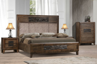 LOBAMBA drevená manželská posteľ 180