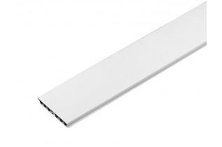 Sokel plastový biely 4 m, výška 10 cm