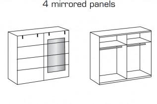 MALLA 791 skriňa s 2 posuvnými dverami a zrkadlom dub planked