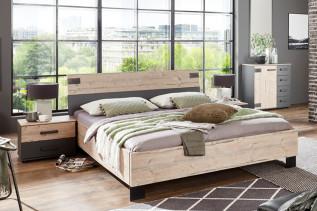 MALLA 351 manželská posteľ 160x200 cm strieborná jedľa