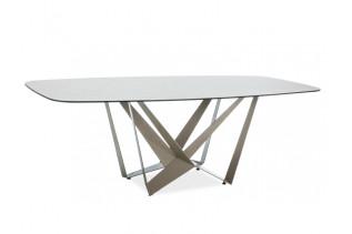 HUDSON jedálenský stôl, latte/mramor