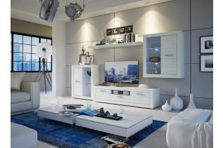 Obývacia stena MATIX PLUS, biela