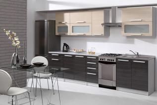 kuchyňa 260 cm, béžová grafit