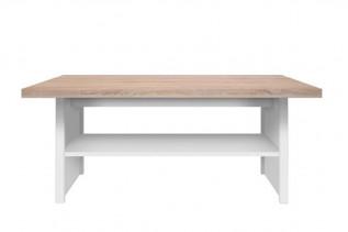 LAXIM konferenčný stolík, dub sonoma/biela