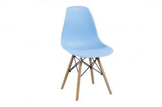 Moderná stolička MODENA II, buk/svetlomodrá