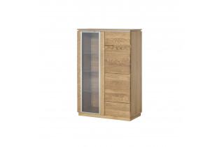 MONASTERY 2-dverová nízka vitrína z masívu 15