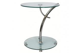 MUNO príručný stolík, kov/sklo