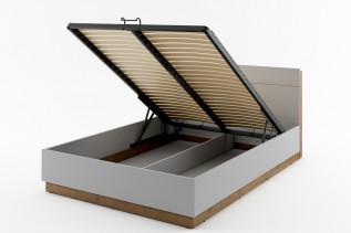 RAINA NE-02, posteľ s odkladacím priestorom a LED osvetlením 160