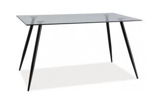 ELNINO jedálenský stôl, čierna/sklo