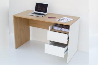 FILOS písací stôl 2S, dub sonoma/biela