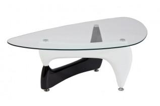 OMEGA konferenčný stolík, čierna+biela