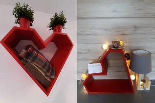 SRDCE dekoračný nábytok - červená