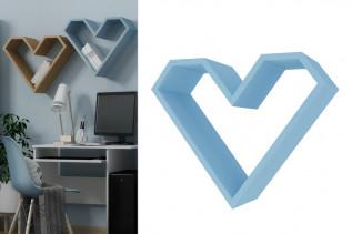 SRDCE dekoračný nábytok, nebeská modrá