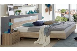 PALOMA 143 S07 manželská posteľ 140x200 cm a 2 nočné stolíky