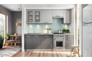 Kuchyňa AURA 240, mocca/šedá