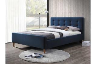PINTO čalúnená posteľ, tmavomodrá