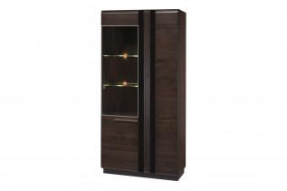 PORTORIKO vysoká vitrína 12-ľavá, dub čokoládový