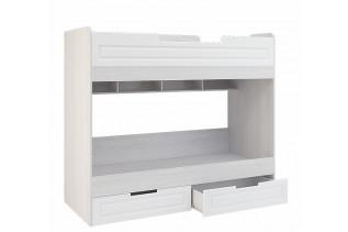 PRAHA poschodová posteľ, biele drevo