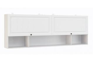 PRAHA závesný regál 2D 203, biele drevo