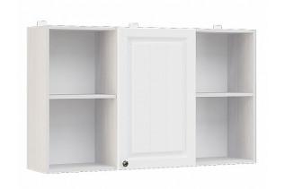 PRAHA závesný regál 1D 120, biele drevo