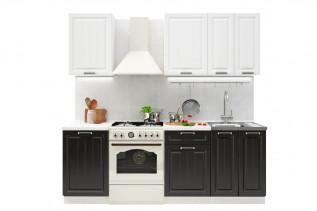 PRAHA 160 kuchynská zostava, biele drevo/wenge