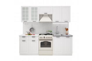 PRAHA 220 kuchynská zostava, biela/biele drevo