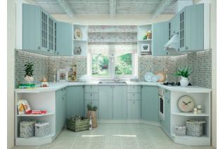 Kuchyňa na mieru PROVENSAL morská modrá/korpus biely