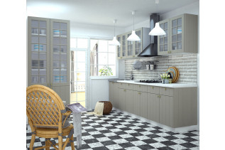 Kuchyňa na mieru PROVENSAL šedá, korpus biely