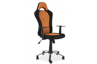 Kancelárske kreslo K-039, čierna/oranžová