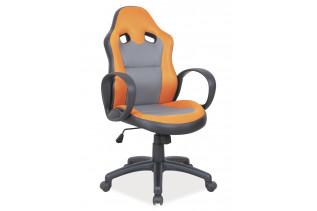 Kancelárske kreslo K-054, sivá/oranžová