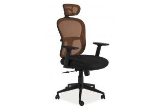 Kancelárske kreslo K-116, čierna/oranžová