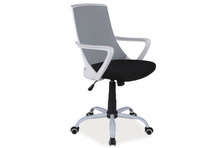 K-248 detská otočná stolička, čierna/šedá