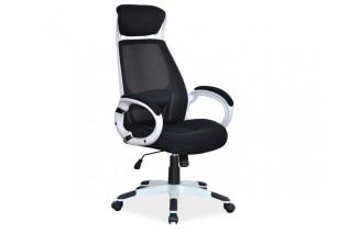 K-409 kancelárske kreslo, čierno-biele