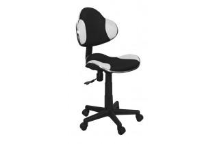 Q-G2 kancelárske kreslo, čierno biele - ekokoža