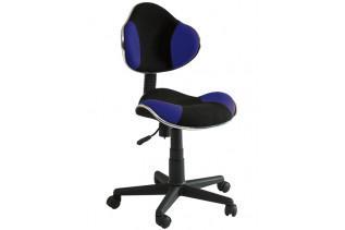 Q-G2 kancelárske kreslo, čierno/modré.