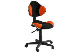 Q-G2 kancelárske kreslo, čierno/  pomarančové.