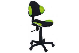 Q-G2 kancelárske kreslo, čierno/ zelené.
