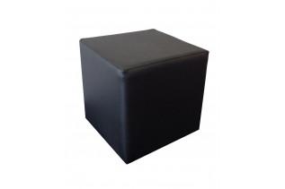 KUBA taburetka, čierna ekokoža
