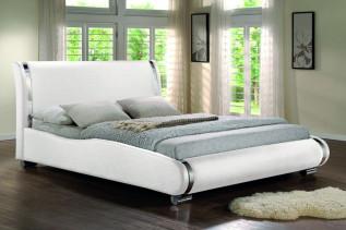 SANTOSIA čalúnená posteľ, biela