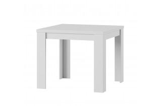 Štvorcový jedálenský stôl s rozkladom SATUR 40, biela